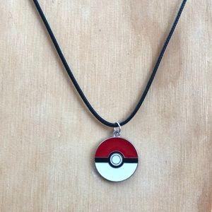 "✨ Pokemon Pokeball Charm Necklace 18"" Rope"